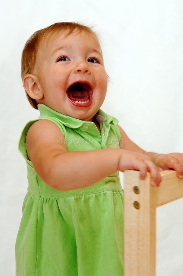 尖叫的女婴 免版税库存照片