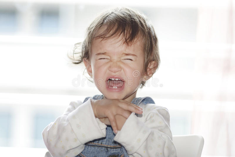 尖叫的女孩 免版税图库摄影