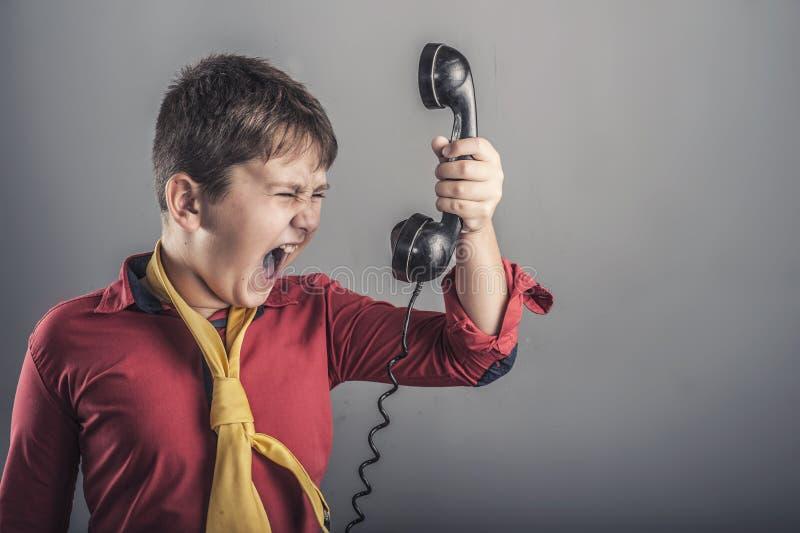尖叫的孩子 免版税图库摄影