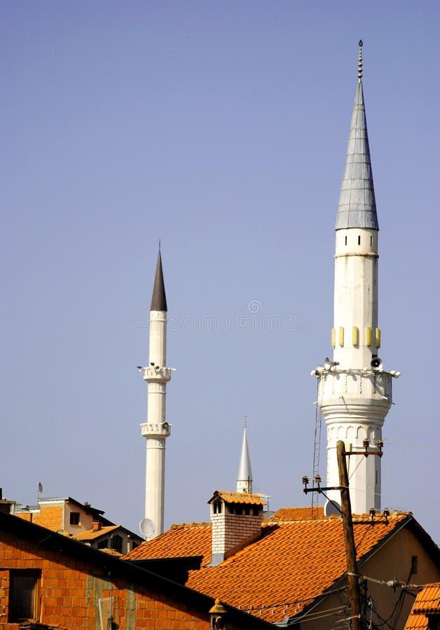 尖塔在普里兹伦市 免版税库存照片