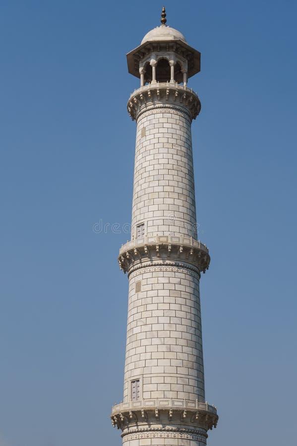 尖塔泰姬陵,著名陵墓在阿格拉,印度 库存图片