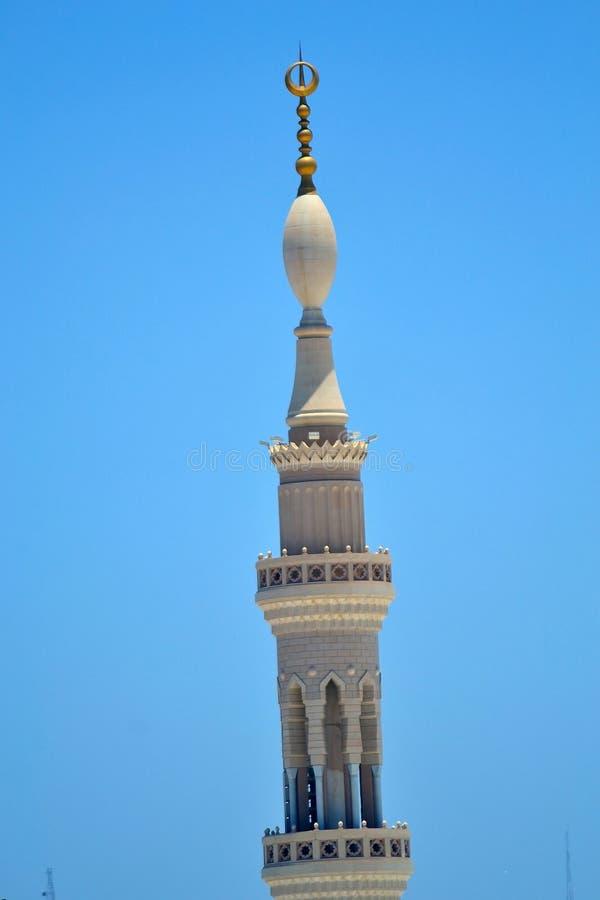 尖塔清真寺nabawi 库存照片