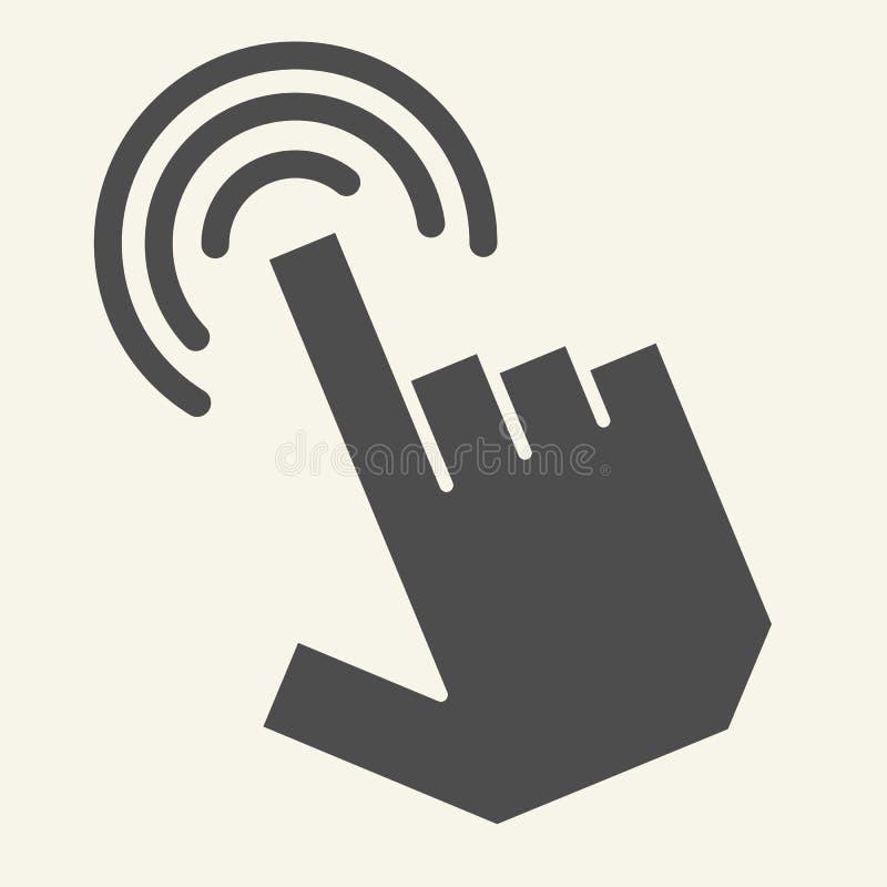 尖手坚实象 手游标在白色隔绝的传染媒介例证 手指尖纵的沟纹样式设计,被设计 向量例证
