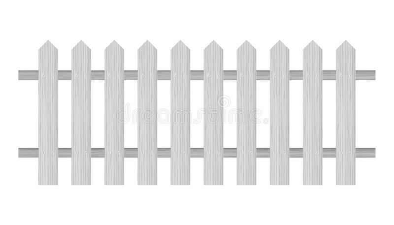 尖桩篱栅,木构造,环绕了边缘 t 库存例证