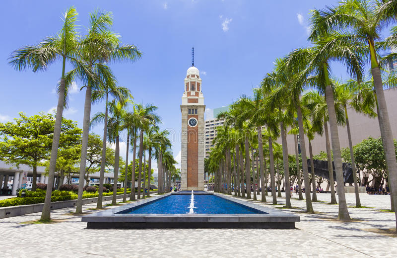 尖沙咀钟楼在尖沙咀,香港 库存图片