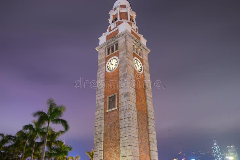 尖沙咀钟楼大本钟,香港 免版税库存图片