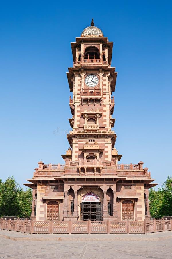 尖沙咀钟楼,乔德普尔城 库存照片