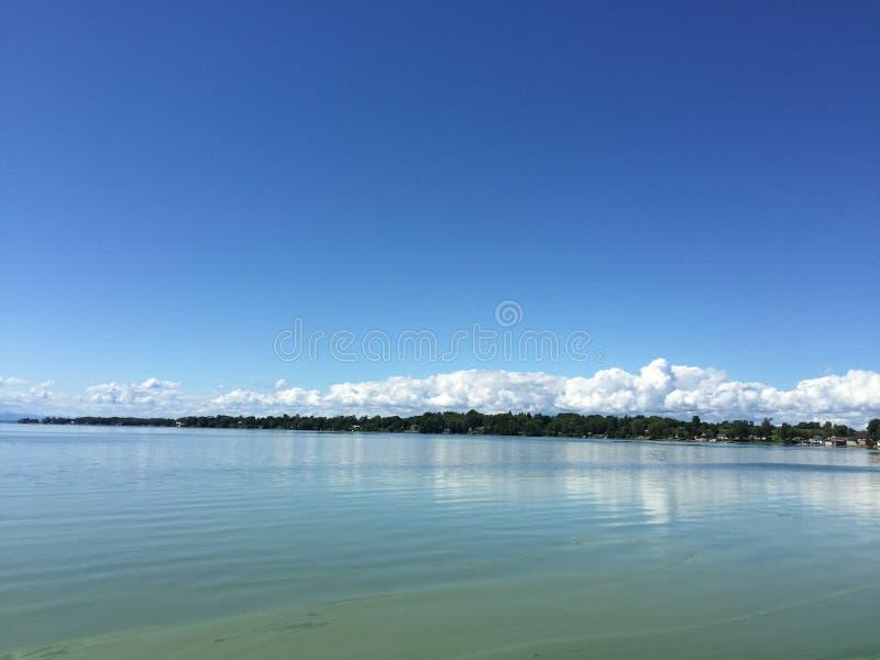 尚普兰湖,圣奥尔本斯, VT 库存照片