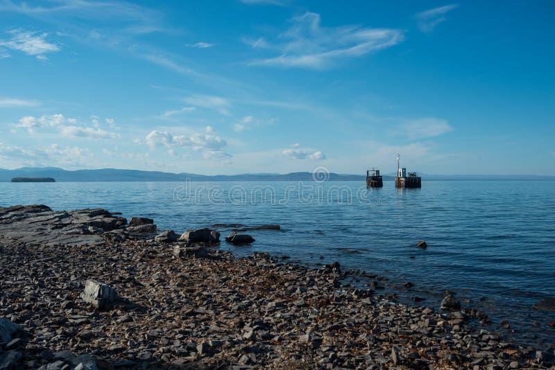 尚普兰湖 免版税库存图片