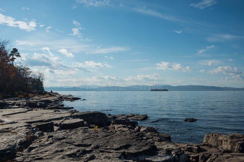 尚普兰湖 库存照片