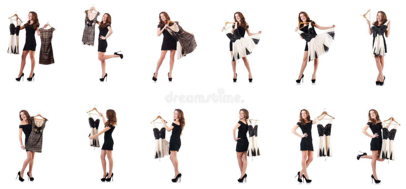 Download 尝试在白色的少妇新的衣物 库存照片. 图片 包括有 纵向, 礼服, 查找, 衣裳, 选择, 查出, 偶然 - 72365742