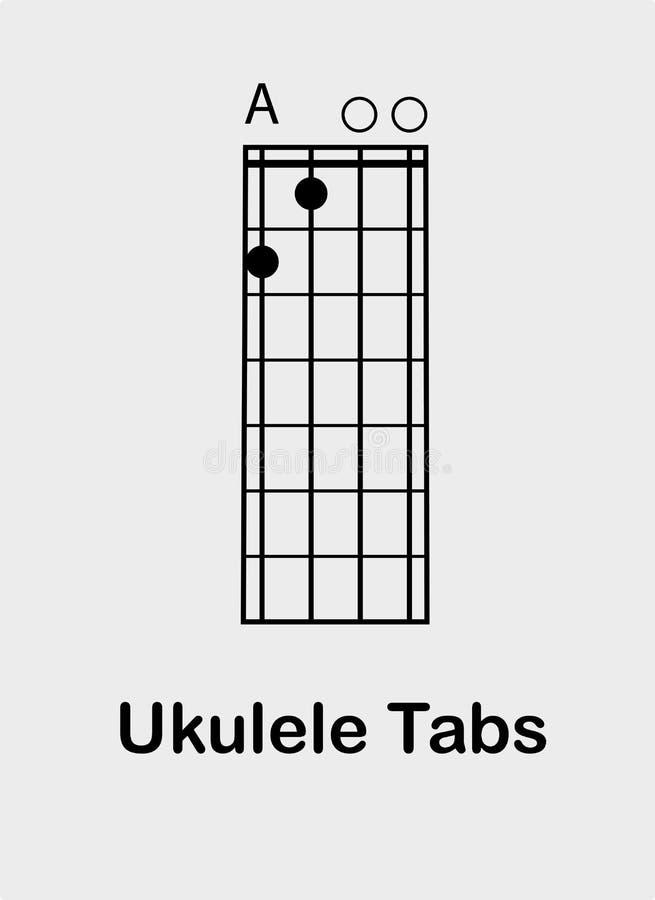 尤克里里琴弦主要 向量例证