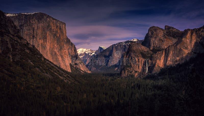 尤塞米提谷全景,优胜美地国家公园,加利福尼亚 库存照片