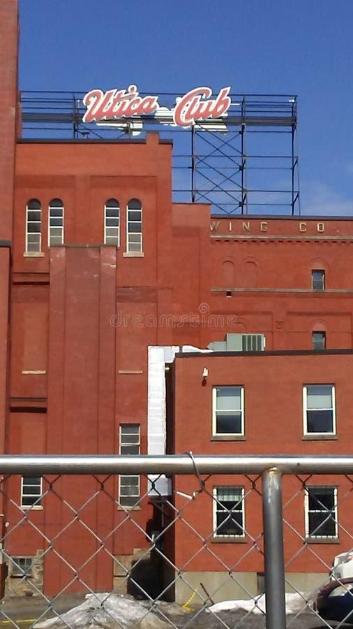 尤蒂卡俱乐部啤酒厂 库存照片