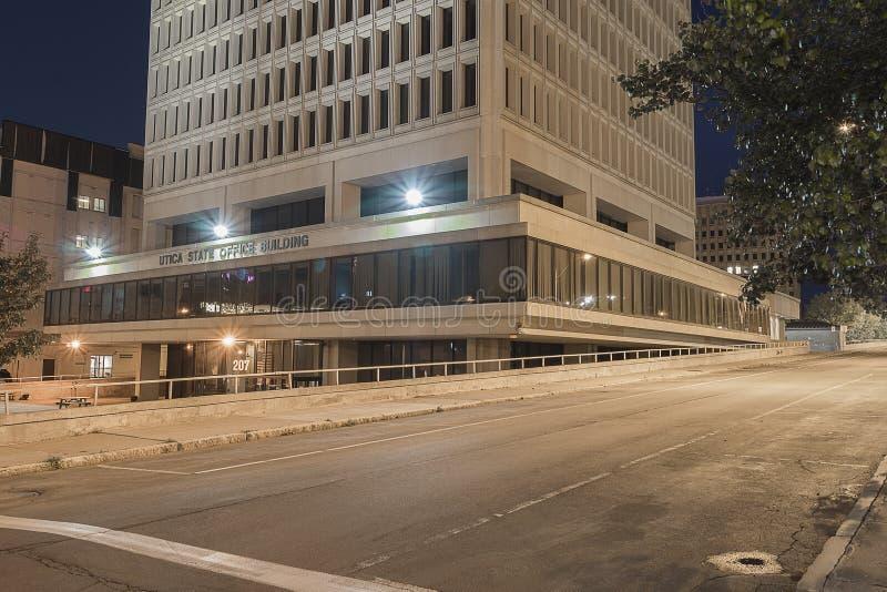 尤蒂卡状态办公楼 免版税库存图片