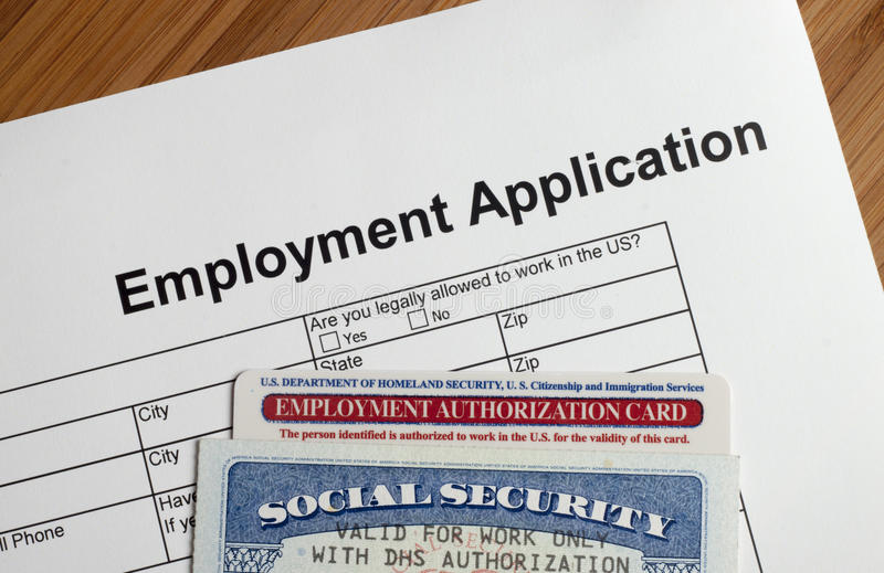 就业应用 免版税库存图片