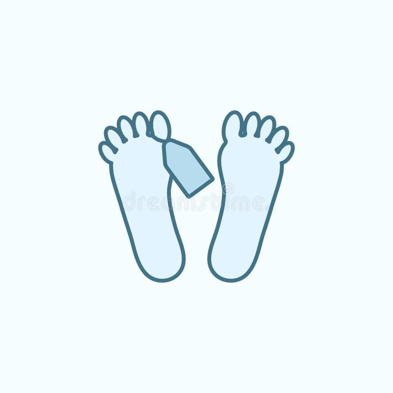 尸体领域概述象的脚 罪行象的元素 库存例证