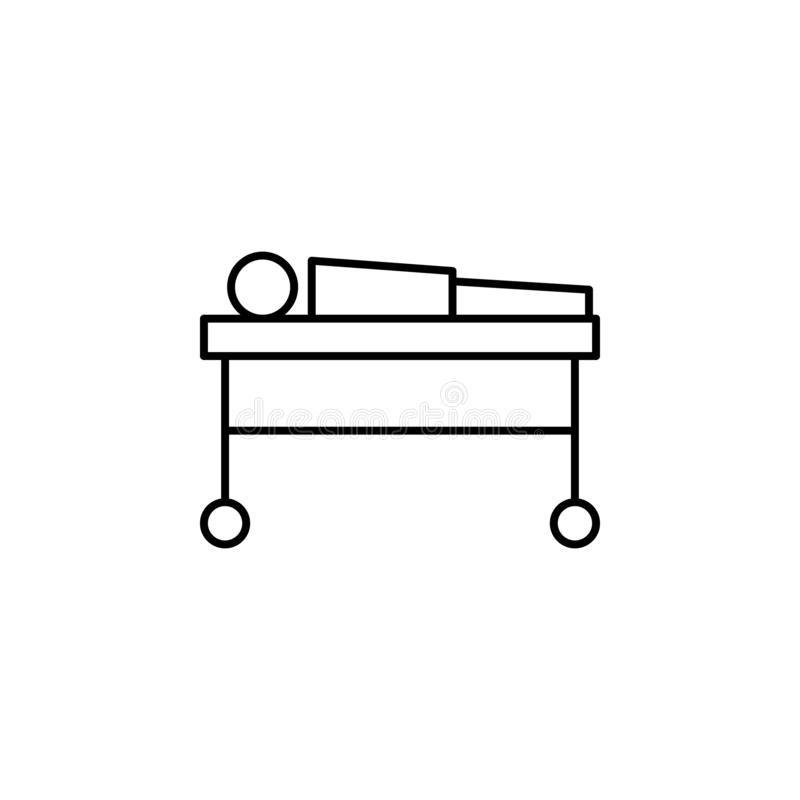 尸体,死亡概述象 详细的套死亡例证象 E 库存例证