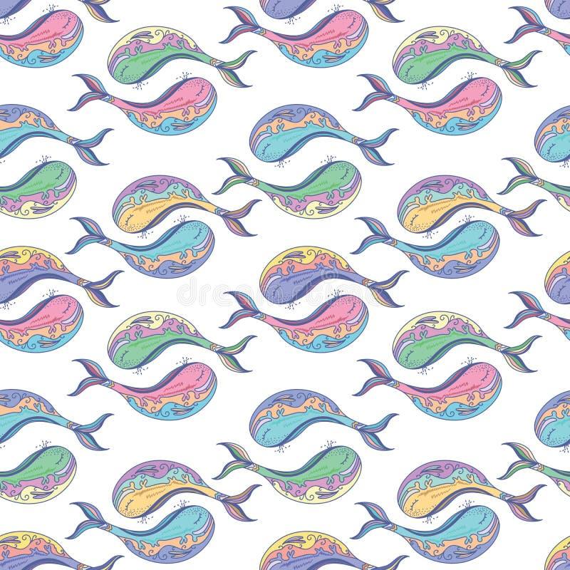 尹杨鲸鱼样式 库存例证