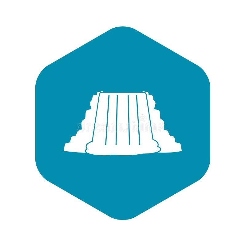 尼亚加拉大瀑布象,简单的样式 向量例证