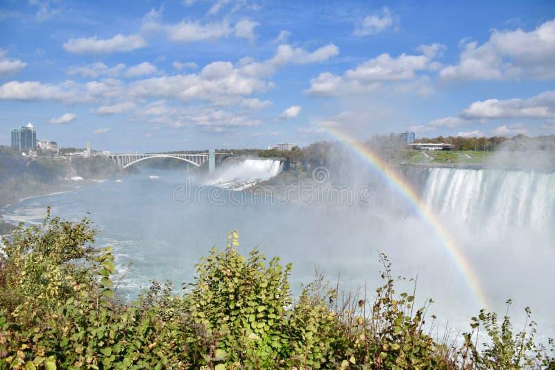尼亚加拉河的风景看法 免版税库存照片