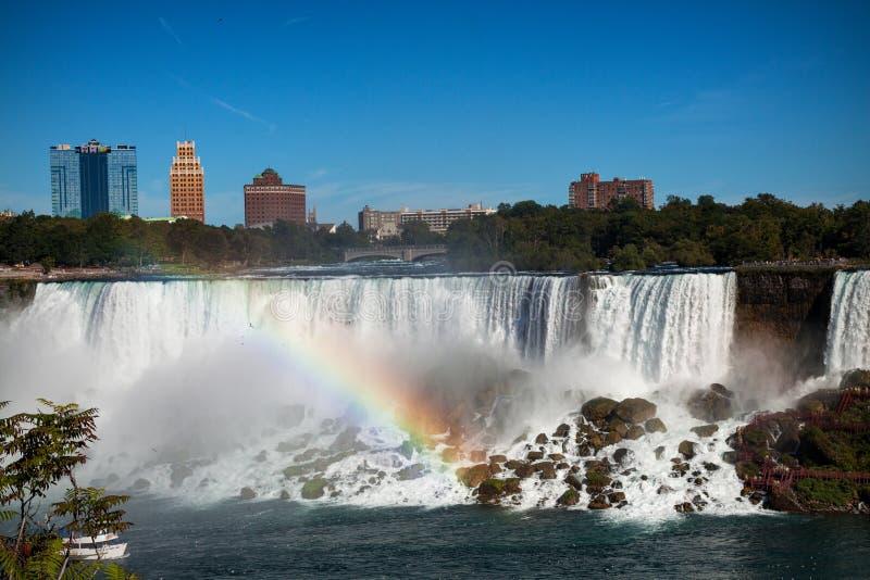 尼亚加拉瀑布美国边 免版税库存照片