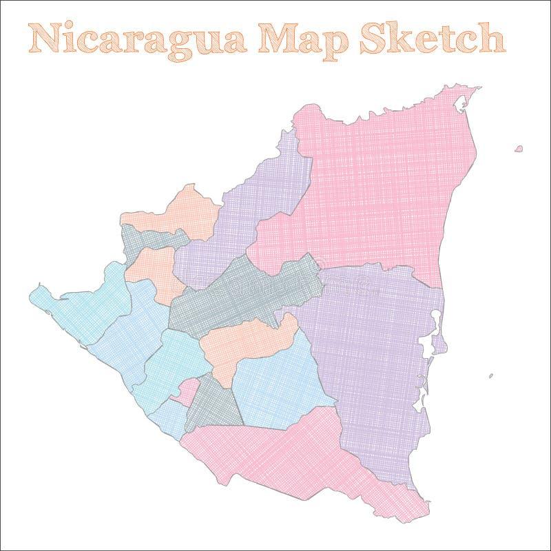 尼加拉瓜地图 库存例证
