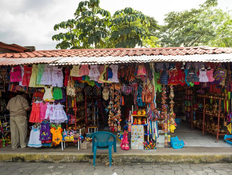 尼加拉瓜阿波约拉古纳市场 免版税库存图片