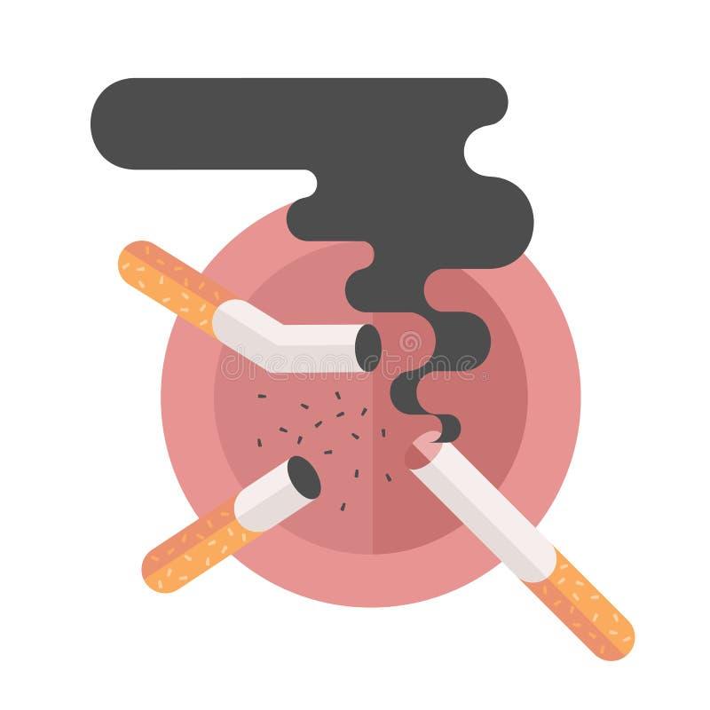 尼古丁消耗量,抽烟的概念怀孕 向量例证