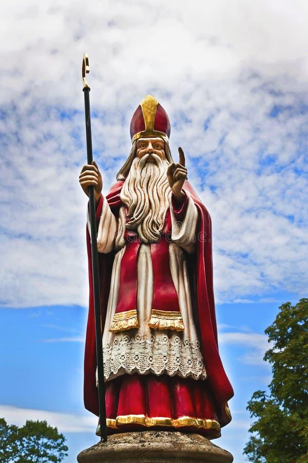 尼古拉斯圣徒雕象 免版税库存图片