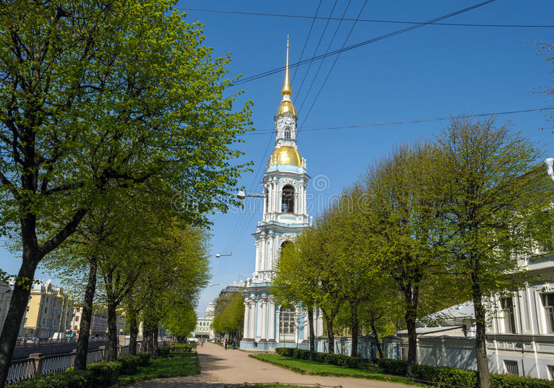 尼古拉斯大教堂,圣彼德堡,俄罗斯 库存照片