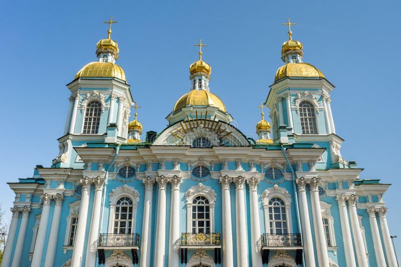 尼古拉斯大教堂,圣彼德堡,俄罗斯 免版税库存图片