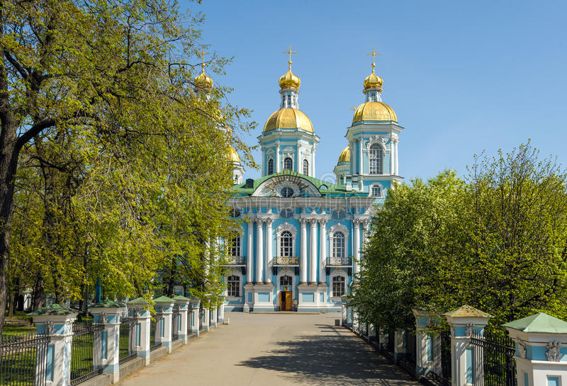 尼古拉斯大教堂,圣彼德堡,俄罗斯 库存图片