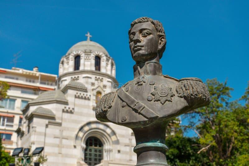 尼古拉斯Alexandrovich,继承人的纪念碑 库存图片