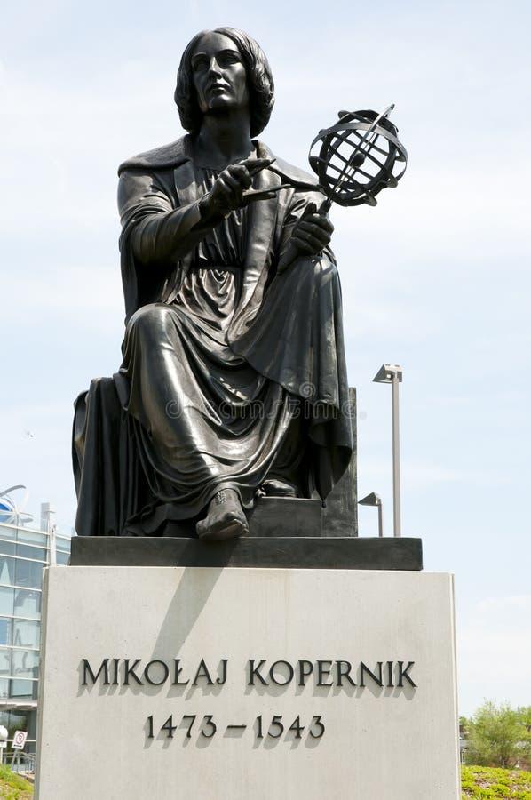尼古拉斯Copernic雕象-蒙特利尔-加拿大 库存照片