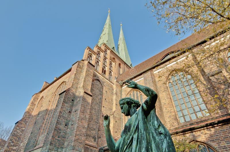 尼古拉Kirche在柏林,德国 库存图片
