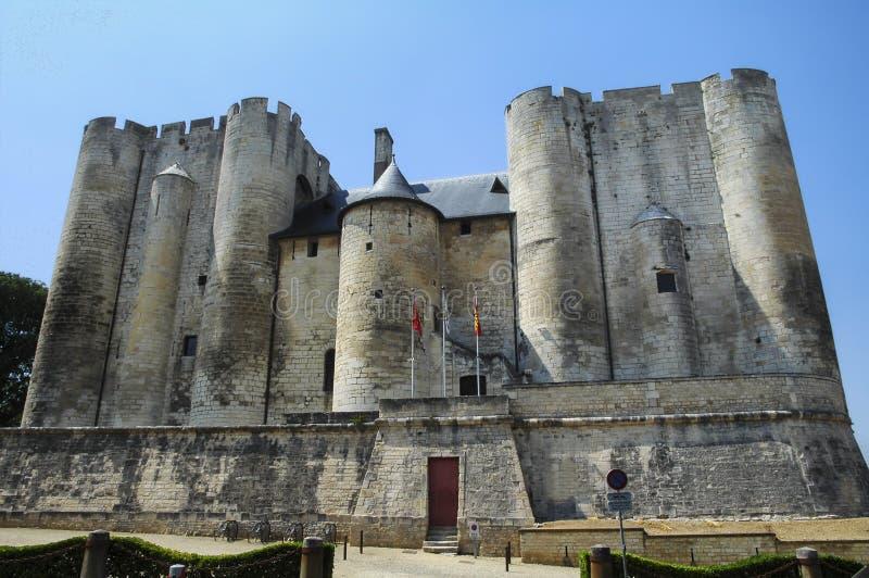 尼奥尔(法国) :城堡 免版税库存图片
