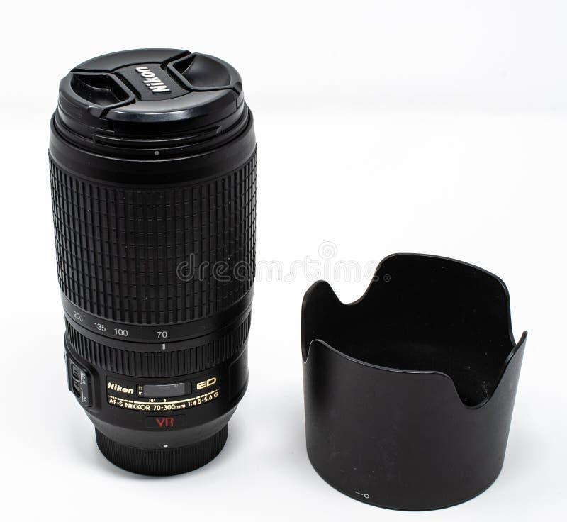 尼康远距照相变焦镜头 免版税库存图片
