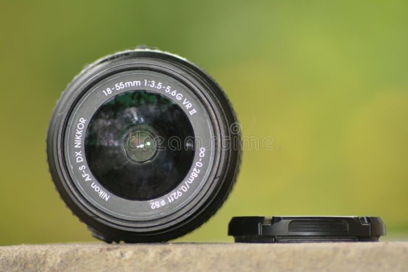 尼康18-55 mm透镜 免版税库存照片