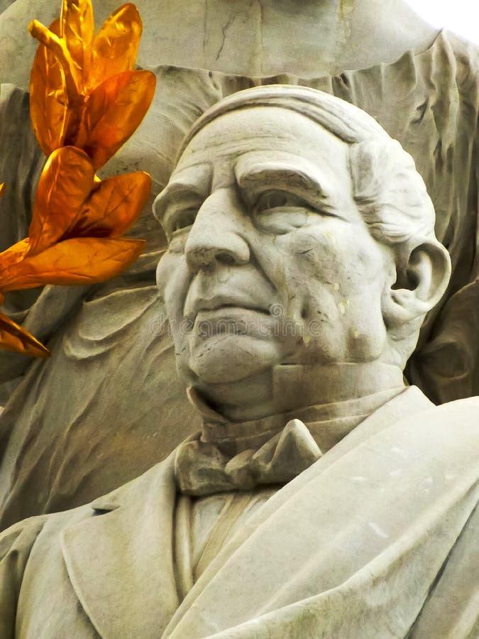 贝尼托华雷斯雕塑的细节 库存图片