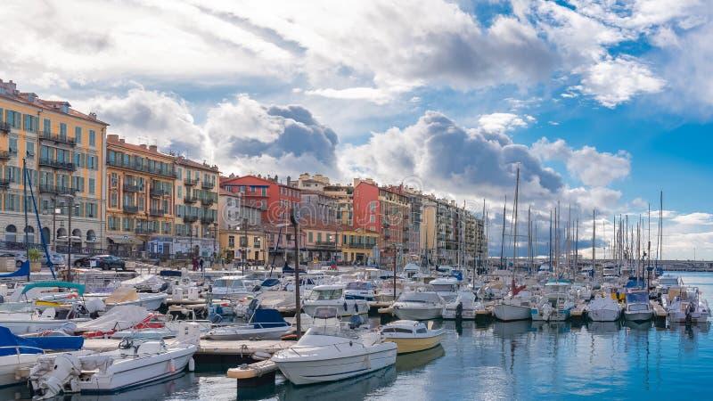 尼斯在法国,港口 免版税库存图片