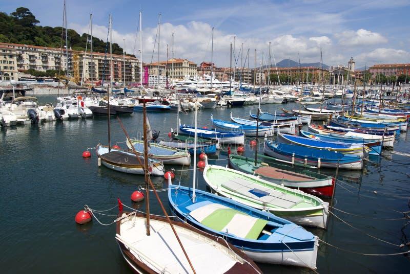 尼斯,法国海滨港  免版税库存图片