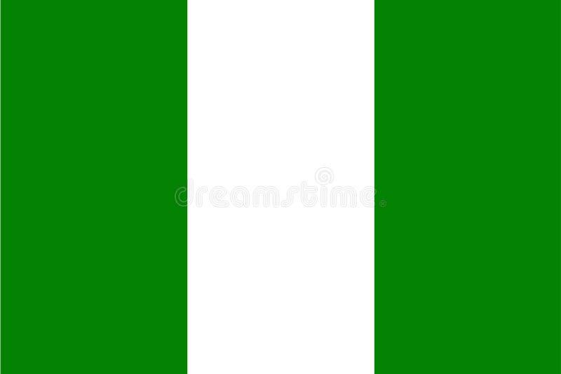 尼日利亚旗子 皇族释放例证