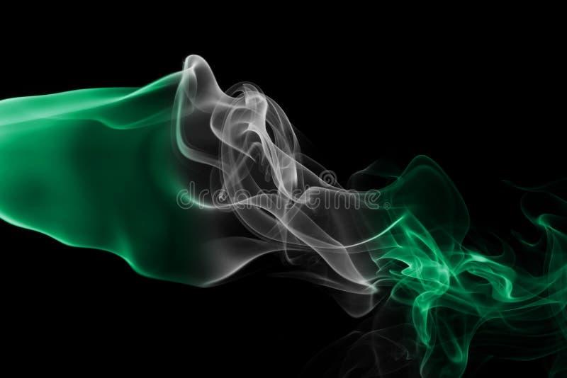 尼日利亚烟旗子 库存照片