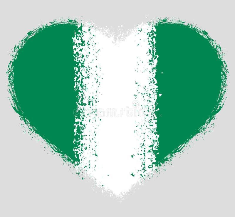 尼日利亚的旗子难看的东西心脏的 皇族释放例证