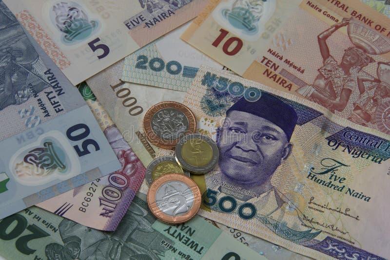 尼日利亚金钱 库存照片