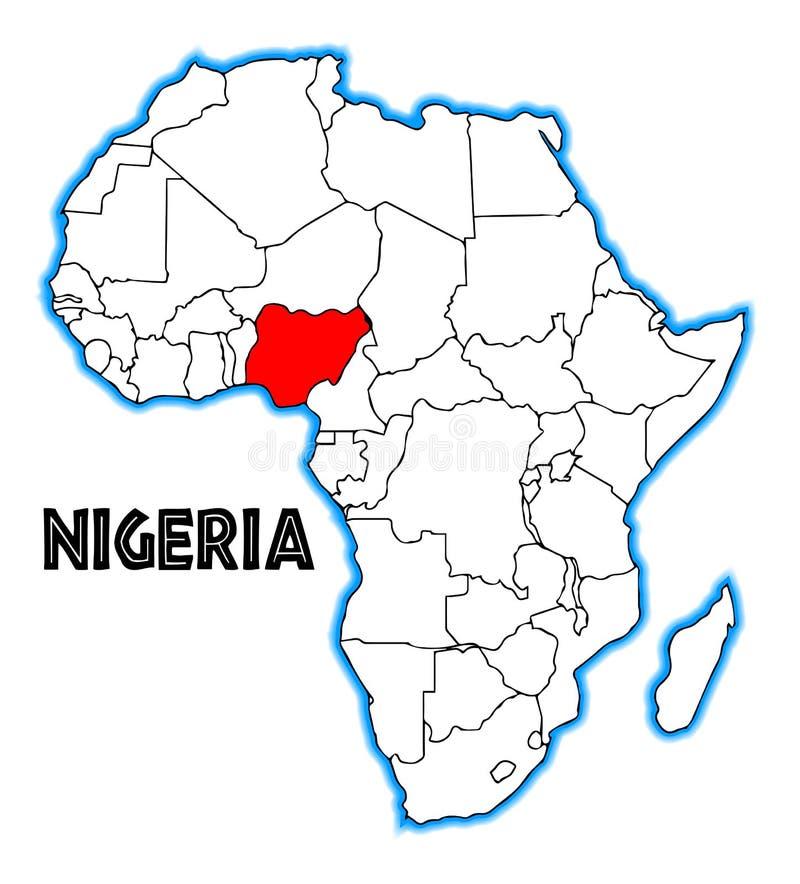 尼日利亚非洲人地图 皇族释放例证
