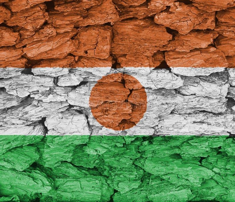 尼日尔旗子纹理  皇族释放例证