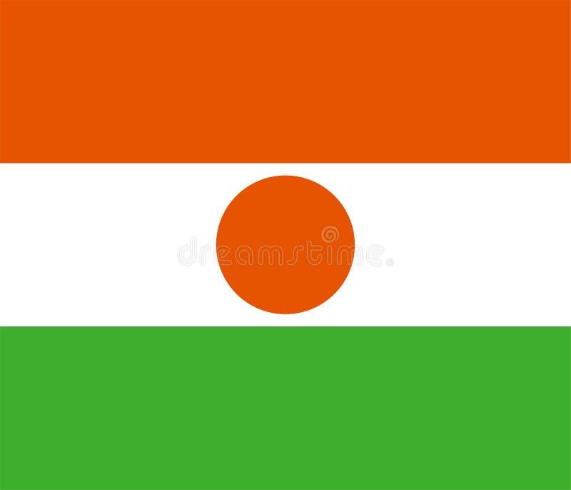 尼日尔的传染媒介旗子 比例6:7 尼日利亚国旗 尼日尔共和国 向量例证
