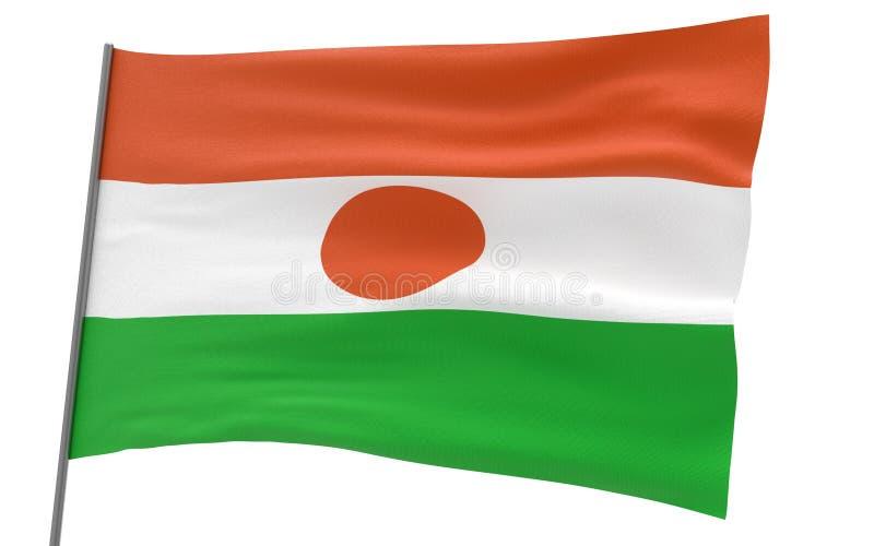 尼日尔的旗子 向量例证